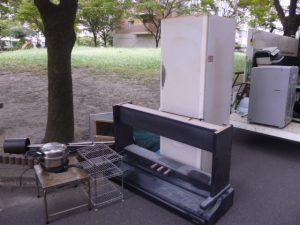 大型冷蔵庫と電子ピアノ処分